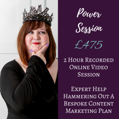The Write Copy Girl - Professional Content Marketing Advice - Power Session - Content Marketing Consultation