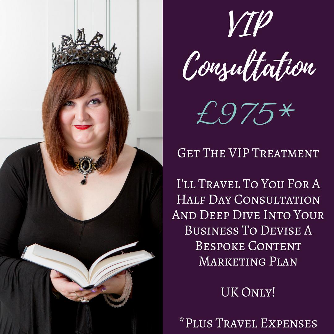 The Write Copy Girl - Professional Content Marketing Advice - VIP Consultation - Content Marketing Consultation